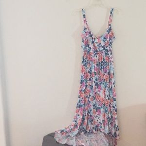 Fun flowery flowy hilow dress from torrid